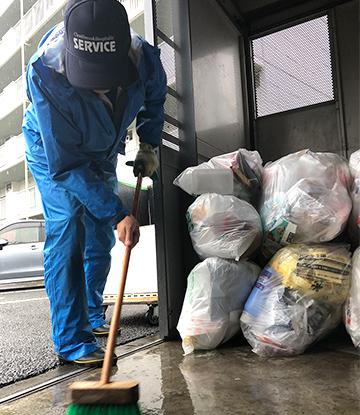 日常清掃・ごみ集積所管理